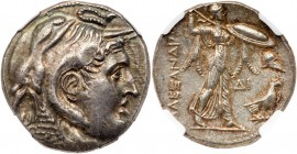 Ptolemaic Kingdom. Ptolemy I Soter. Silver Tetradrachm (15.74 g), as Satrap, 323-305 BC. Alexandria, ca. 311/0-305 BC. Diademed head of the deified Al...