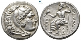 "Kings of Macedon. Lampsakos. Alexander III ""the Great"" 336-323 BC. Struck under Kalas or Demarchos, circa 328/5-323 BC. Tetradrachm AR"
