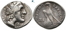 Thrace. Byzantion circa 240-230 BC. Ptolemaic issue countermarked at Byzantion. Tetradrachm AR