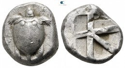 Islands off Attica. Aegina circa 550-456 BC. Stater AR