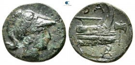 Kings of Macedon. Uncertain mint in Western Asia Minor. Demetrios I Poliorketes 306-283 BC. Bronze Æ