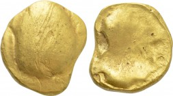 "CENTRAL EUROPE. Boii. GOLD Stater (2nd-1st centuries BC). ""Muschel"" type."