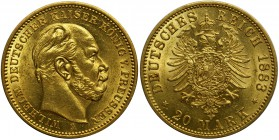 Germany - Prussia Wilhelm I - 20 marek 1883 A Berlin