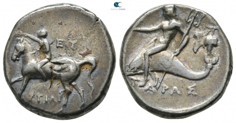 Calabria. Tarentum 272-240 BC. Histiar- and Eu-, magistrates