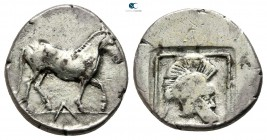 Kings of Macedon. Aigai. Alexander I 498-454 BC. Tetrobol AR
