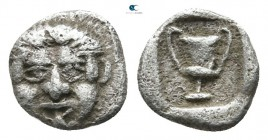 Thraco-Macedonian Region. Uncertain mint 500 BC. Tetartemorion AR
