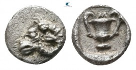 Thraco-Macedonian Region. Uncertain mint 480-450 BC. Tetartemorion AR