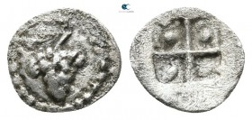 Thraco-Macedonian Tribes. Uncertain mint 500 BC. Hemiobol AR