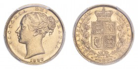 AUSTRALIA. Victoria, 1837-1901. Sovereign, 1886 S, Sydney, Shield. 7.99 g. S-3855B; KM-6; Fr-11.  Young head of Victoria facing left, date below, lege...