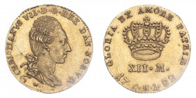 DENMARK. Christian VII, 1766-1808. Gold 12 Mark / Kurantdukat, 1782 CHL, 3.12 g. KM-641.1; Fr-281.  Very rare, the best we have seen offered on the ma...