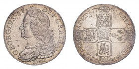 GREAT BRITAIN. George II, 1727-60. Halfcrown, 1746 LIMA, London, 14.90 g. S-3695; KM-584.3.  Older laureate and draped bust left. Legend reads GEORGIU...