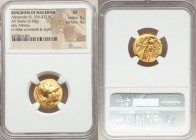 MACEDONIAN KINGDOM. Alexander III the Great (336-323 BC). AV stater (19mm, 8.58 gm, 7h). NGC XF 5/5 - 4/5. Lifetime issue of Sardes, ca. 334-323 BC. H...