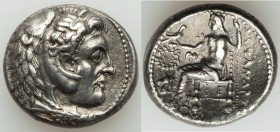 MACEDONIAN KINGDOM. Alexander III the Great (336-323 BC). AR tetradrachm (24mm, 16.83 gm, 1h). XF. Posthumous issue of Susa, under Seleucus I Nicator,...