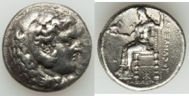 MACEDONIAN KINGDOM. Alexander III the Great (336-323 BC). AR tetradrachm (25mm, 16.94 gm, 2h). VF. Late lifetime or early posthumous issue. Babylon, c...