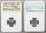 MACEDONIAN KINGDOM. Alexander III the Great (336-323 BC). AR drachm (17mm, 10h). NGC XF. Posthumous issue of 'Colophon', ca. 310-301 BC. Head of Herac...
