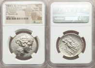 THRACIAN ISLANDS. Thasos. Ca. 148-90/80 BC. AR tetradrachm (33mm, 16.81 gm, 10h). NGC AU 5/5 - 3/5. Head of Dionysus right, crowned with ivy, wearing ...