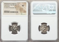 THRACIAN KINGDOM. Lysimachus (305-281 BC). AR drachm (17mm, 12h). NGC XF. In the name and types of Alexander III of Macedon, Colophon, ca. 301-297 BC....