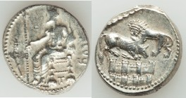 CILICIA. Tarsus. Balacros, as Satrap (333-323 BC). AR stater (22mm, 10.96 gm, 6h). XF. Baaltars seated left holding lotus tipped scepter, ear of grain...