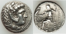 SELEUCID KINGDOM. Seleucus I Nicator (312-281 BC). AR tetradrachm (25mm, 17.03 gm, 3h). XF. Posthumous issue in the name and types of Alexander III th...