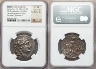 SELEUCID KINGDOM. Antiochus VII Euergetes-Sidetes (138-129 BC). AR tetradrachm (29mm, 16.47 gm, 1h). NGC Choice XF 4/5 - 5/5. Posthumous issue of Capp...