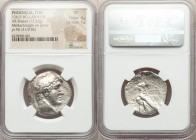 PHOENICIA. Tyre. Ca. 126/5 BC-AD 65/6. AR shekel (27mm, 13.29 gm, 12h). NGC VF 4/5 - 1/5. Dated Civic Year 96 (31/0 BC). Laureate head of Melqart righ...
