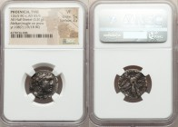 PHOENICIA. Tyre. Ca. 126/5 BC-AD 65/6. AR half-shekel (19mm, 5.81 gm, 2h). NGC VF 5/5 - 2/5. Dated Civic Year 108 (19/18 BC). Laureate head of Melqart...