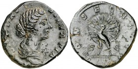 (176 d.C.). Faustina hija. Sestercio. (Spink 5228) (Co. 72) (RIC. 1703). 20,51 g. MBC.