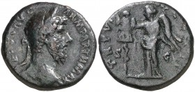 (166 d.C.). Lucio Vero. As. (Spink 5416) (Co. 282) (RIC. 1448). 11,06 g. MBC.