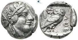 Attica. Athens Before 421 BC. Struck during the period of the Peloponnesian War and until the Peace of Nicias. Tetradrachm AR