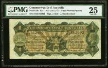 Australia Commonwealth of Australia 1 Pound ND (1927) Pick 16b PMG Very Fine 25.   HID09801242017