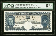 Australia Commonwealth of Australia 5 Pounds ND (1949) Pick 27c PMG Uncirculated 62 Net. Thinning.  HID09801242017