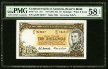 Australia Commonwealth of Australia 10 Shillings ND (1961-65) Pick 33a PMG Choice About Unc 58 EPQ.   HID09801242017