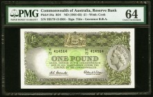 Australia Reserve Bank of Australia 1 Pound ND (1961-65) Pick 34a PMG Choice Uncirculated 64.   HID09801242017