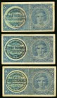 Bohemia & Moravia Protectorate of Bohemia and Moravia 1 Koruna ND (1939) Pick 1a SB401a Three Examples Very Fine-Extremely Fine.   HID09801242017