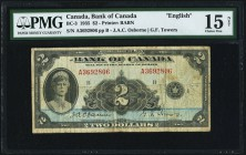 Canada Bank of Canada 2 Dollars 1935 BC-3 PMG Choice Fine 15 Net. Rust.  HID09801242017