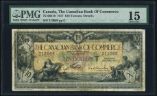 Canada Canadian Bank of Commerce 10 Dollars 2.1.1917 Ch.# 75-16-04-10 PMG Choice Fine 15. Tear.  HID09801242017