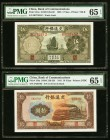China Bank of Communications 5; 10 Yuan 1935; 1941 Pick 154a; 159a Two Examples PMG Gem Uncirculated 65 EPQ.   HID09801242017