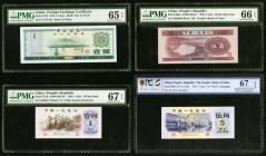 China Foreign Exchange Certificate 1 Yuan 1979 Pick FX3 PMG Gem Uncirculated 65 EPQ. China People's Republic 1; 5; 5 Jiao 1962; 1953; 1972 Pick 877d; ...