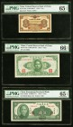 China Federal Reserve Bank of China 1 Fen 1938 Pick J46a PMG Gem Uncirculated 65 EPQ. China Central Reserve Bank Of China 1 Yuan 1943 Pick J19a PMG Ge...
