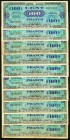 France Allied Military Currency 100 Francs Group of 20 Very Fine-Extremely Fine.   HID09801242017