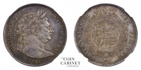 BRITISH COINS. George III, 1760-1820. Halfcrown, 1817, London. NGCᅠMS63. 14.14 g. 32 mm. Mintage: 8,092,656. ESC-2090; S.3788. Large bust, so called b...