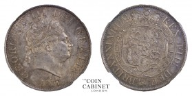 BRITISH COINS. George III, 1760-1820. Halfcrown, 1817, London. NGCᅠMS63. 14.14 g. 32 mm. Mintage: 8,092,656. ESC-2096; S.3789. Small bust. Lovely toni...