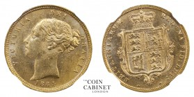 BRITISH COINS. Victoria, 1837-1901. Gold Half Sovereign, 1884, London. NGCᅠMS63. 4.00 g. 19.3 mm. Mintage: 1,121,600. Marsh 458, S.3861. Housed in a s...