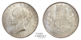 BRITISH COINS. Victoria, 1837-1901. Halfcrown, 1842, London. PCGS MS63. 14.14 g. 32 mm. Mintage: 486,000. S.3888. Scarce in this high grade. Spink lis...