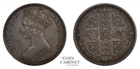 BRITISH COINS. Victoria, 1837-1901. Godless Florin, 1849, London. 11.32 g. 28 mm. Mintage: 413,820. S.3890. Because DEI GRATIA (latin 'by God') was om...