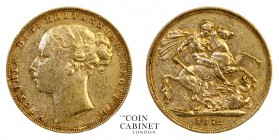 AUSTRALIAN GOLD SOVEREIGNS. Victoria, 1837-1901. Gold Sovereign, 1872-S, Sydney. St George. 7.98 g. 22.05 mm. Marsh 111; S.3858A. Fine.