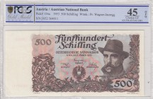 Austria, 500 Shillings, 1953, XF, p134a