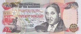 Bahamas, 20 Dollars, 1997, UNC, p65