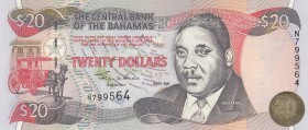Bahamas, 20 Dollars, 2000, UNC, p65A