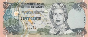 Bahamas, 50 Cents, 2001, UNC, p68